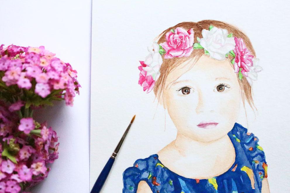 Illustration personnalisée – Portrait aquarelle