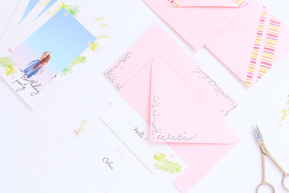 DIY enveloppes personnalisées + découverte Popcarte