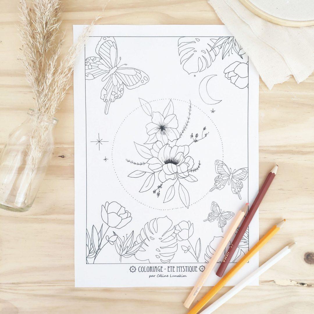Coloriage Gratuit Pour Adultes Fleurs Mystiques Celine Lunakim